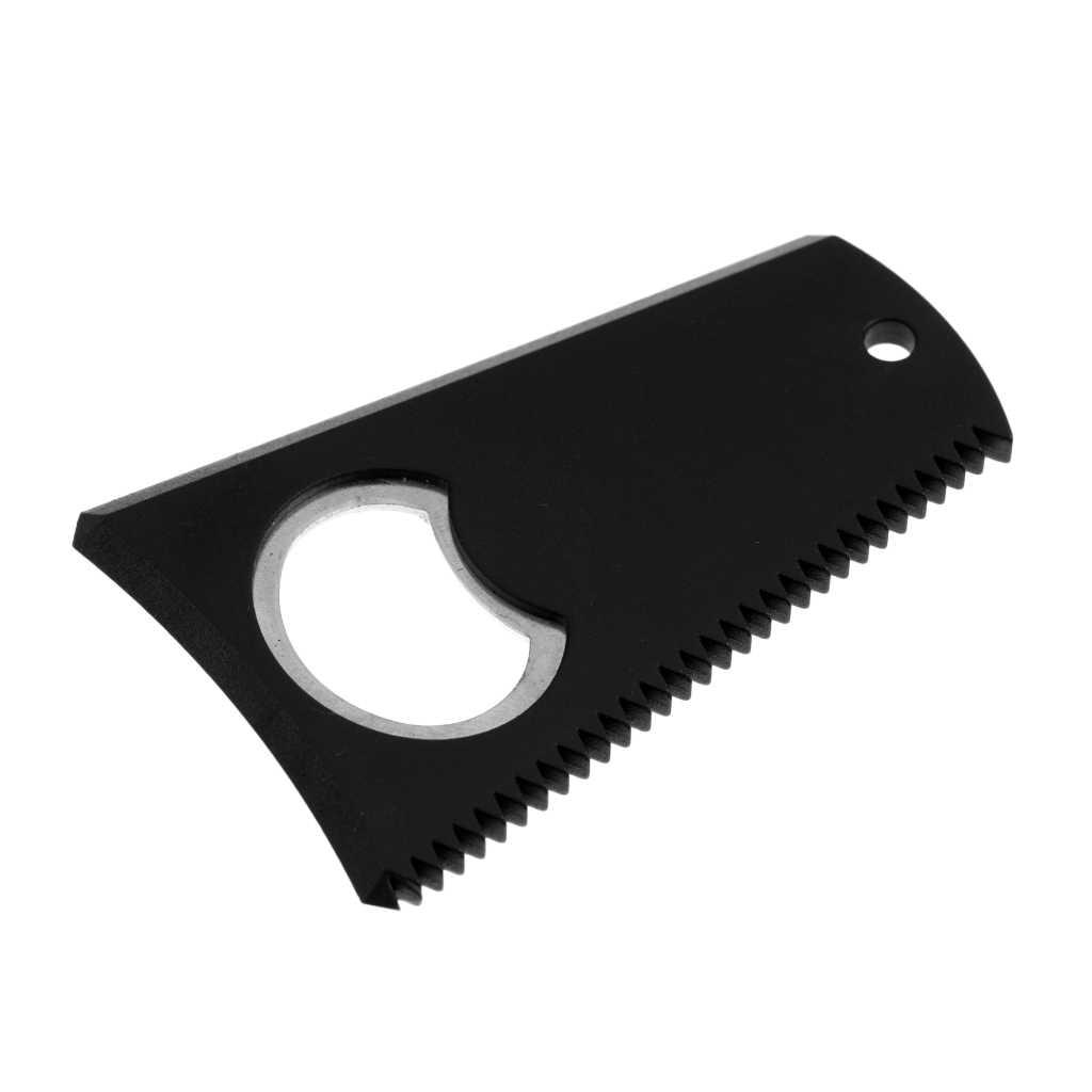 Removedor de cera de surf, placa preta para remover cera de surf, acessórios de limpeza de cera com buraco para chaveiro