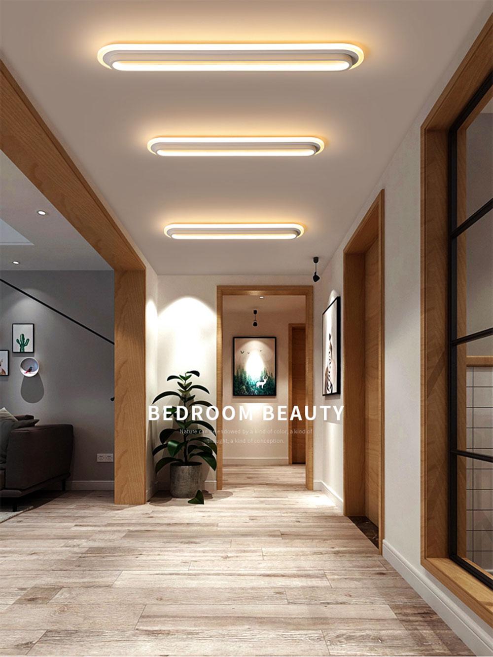 HTB1rhAjaBCw3KVjSZFuq6AAOpXaP Modern Led Ceiling Lights For Living Room Bedroom Study Room Corridor White black color surface mounted Ceiling Lamp AC85-265V