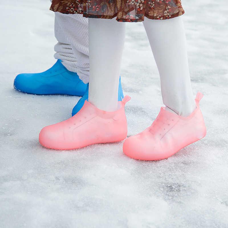 KESMAll Wasserdicht Wiederverwendbare Regen Schuhe Abdeckungen Gummi Slip-beständig Regen Boot Überschuhe Männer & Frauen Schuhe Zubehör WS417