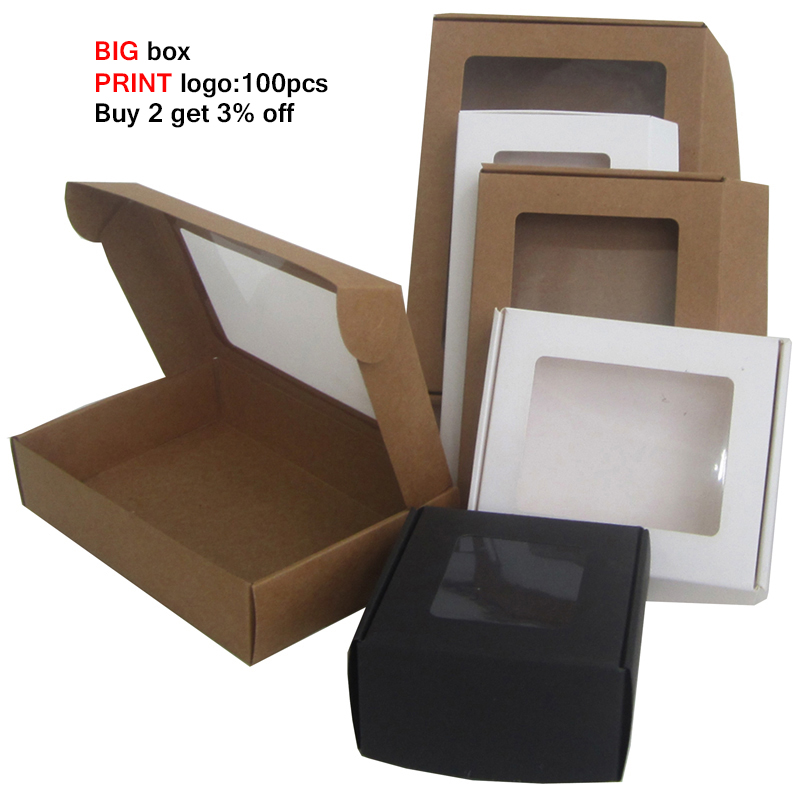 Cajas De Carton Window Paper <font><b>Large</b></font> <font><b>Gift</b></font> <font><b>Box</b></font> <font><b>Packaging</b></font> Custom Black Kraft Paper <font><b>Box</b></font> Multi Size Big Packing <font><b>Box</b></font> Cardboard Boxes image