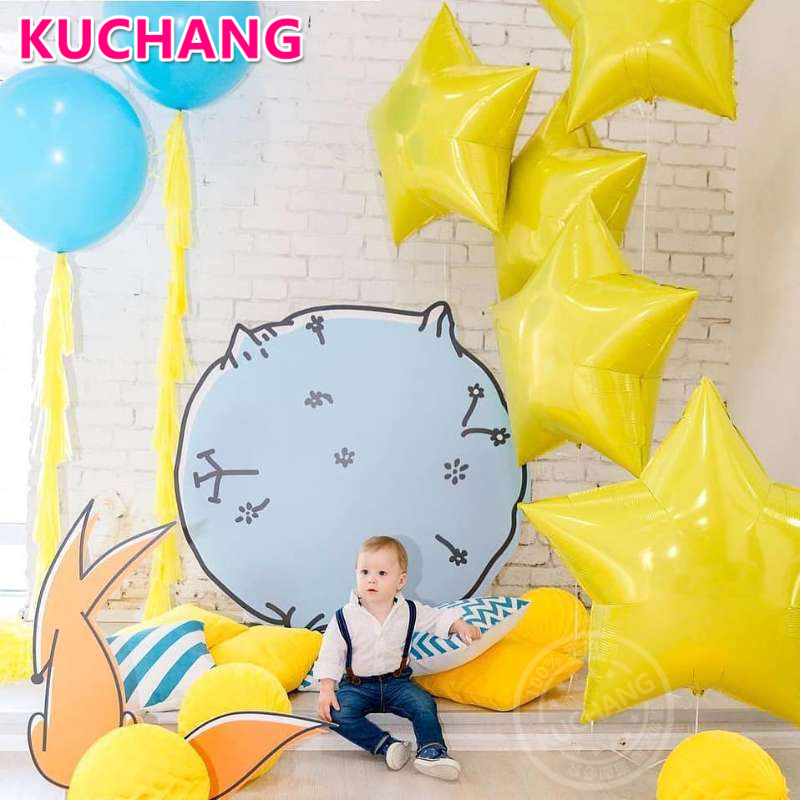 10pcs 18inch Heart Star Foil Balloons Birthday Wedding Party Yellow Five-Point Star Helium Globos Baby Shower Decor Balloon Toys