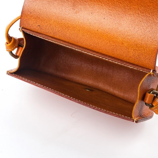ISHARES Genuine Leather Saddle Women Cow Leather Bags Vintage High Quality Solid Simple Shoulder & Crossbody Bag IS8105