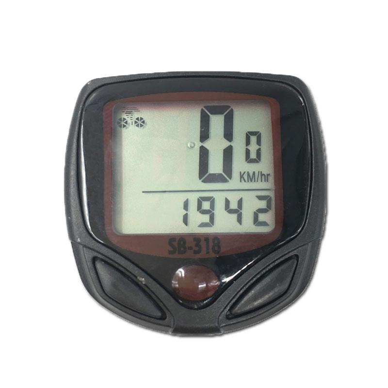 15-Functions Bicycle Computer Waterproof Riding Digital LCD Display Bike Bicycle Odometer Speedometer Cycling SpeedMeter 1 5 lcd electronic bicycle computer speedometer blue white 1 x lr1130