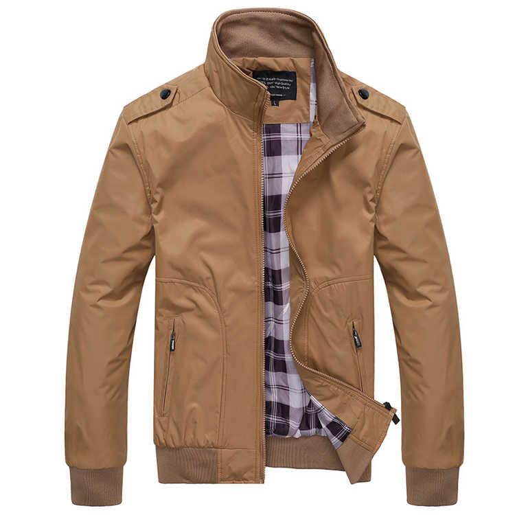 メンズ春冬ジャケットコート 2019 プラスサイズ男性スポーツウェアオートバイメンズ襟スリムボンバージャケットブランド服