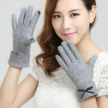 Newly design Fashion Womens Winter  phone Touch Screen Gloves Outdoor Sports Warm Gloves Mittens  Cashmere