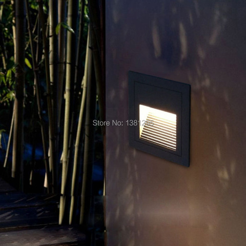 ao ar livre led passo luz praca ip65 impermeavel footlight recesso lampada da escada de