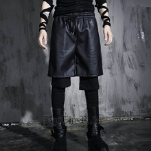 HOT 2017 NEW fashion casual male singer fake two trousers costumes nightclub bar DJ Men s