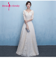 Beauty Emily A Line Long Evening Dress Party Elegant Vestido De Festa Fast Shipping Ever Pretty