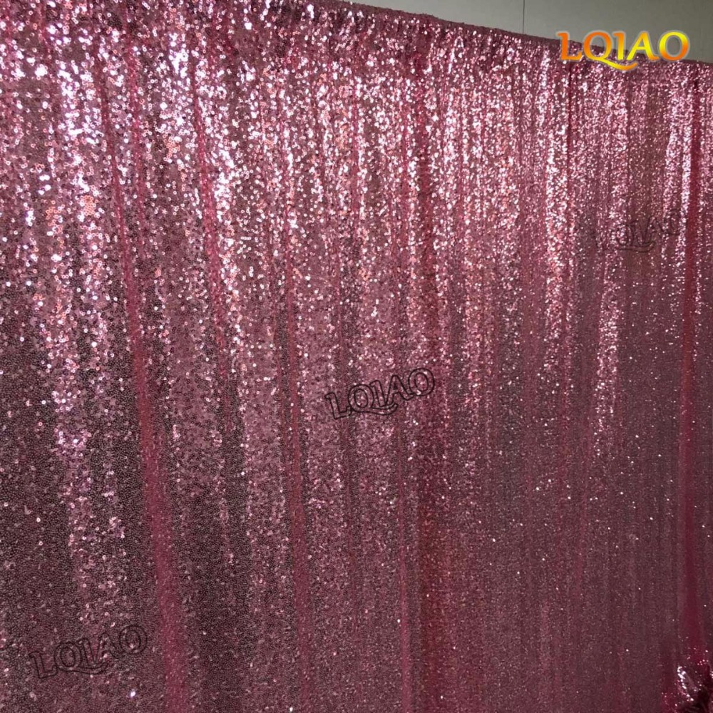 Pink Sequin Curtains Us 44 62 5 Off Pink Gold Shimmer Sequin Fabric Backdrop 10x10 Wedding Photo Booth Sequin Curtains Drapes Sequin Panels Photography Background In