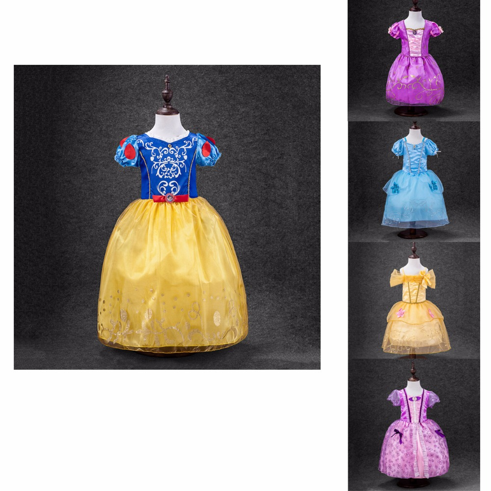 Baby Girls Party Dresses Kids Summer Princess Cinderella Elsa Belle Cosplay Costume Wedding girl clothes cartoon - Amazing Store. store