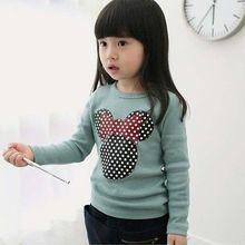 New Kids T shirt Toddler Clothes Girls Polka Dot Long Sleeve Casual T Shirt Tops