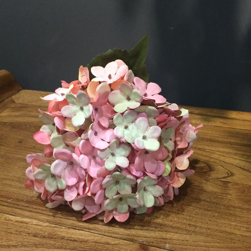 Ting Lan European retro color simulation plant wall hydrangea simulation artificial flowers wedding decorations silk flowers
