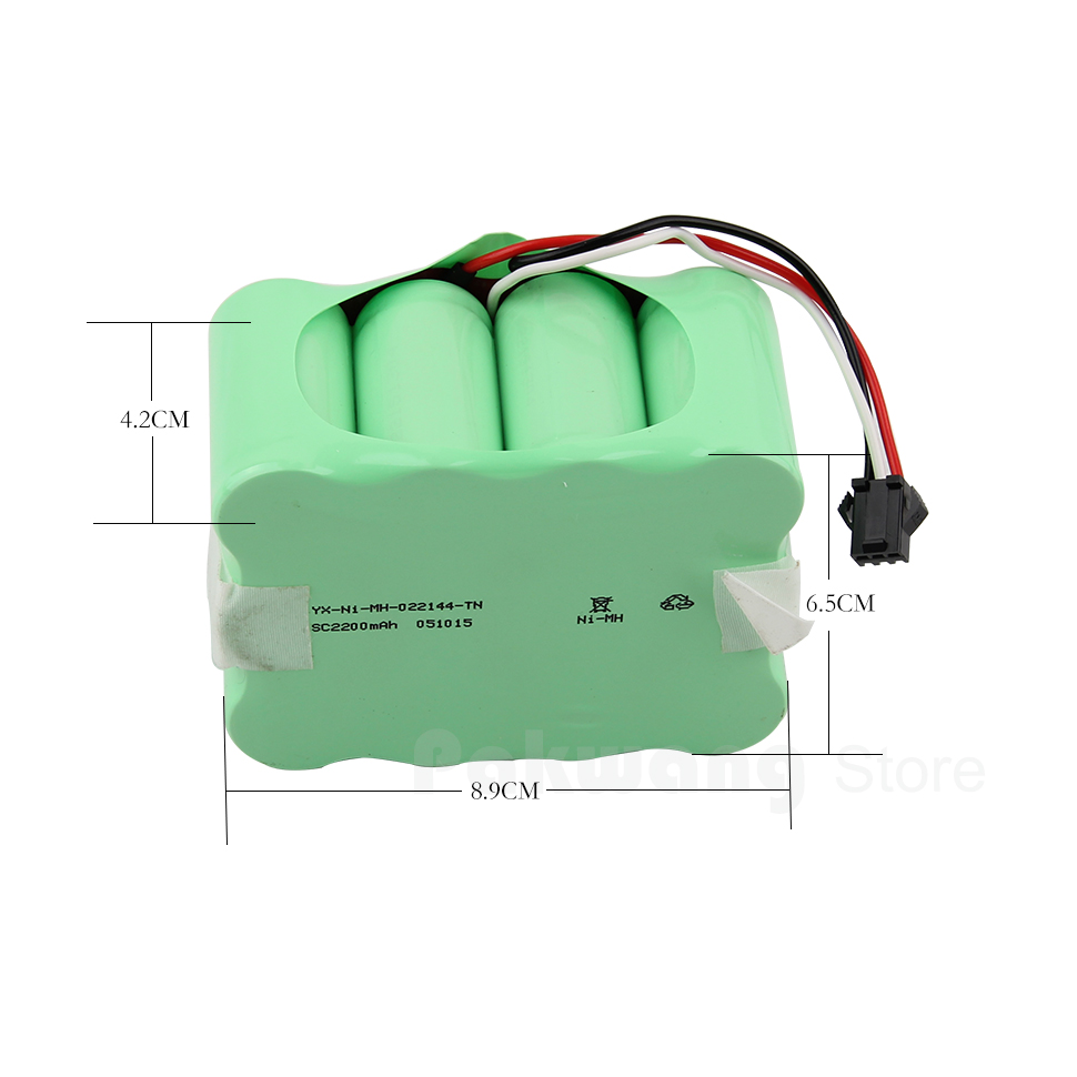 Robot Vacuum Cleaner XR510 Battery 2200MAH Ni Battery 1 PC xr510 battery for rechargeable vacuum cleaner brand new vacuum cleaner parts 14 4v 2200mah battery powered replacement
