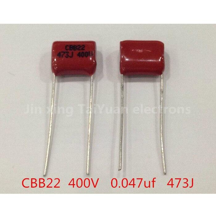 Cbb22 CBB 0.047 uF 473J 400 v polypropylène métallisé Fillm kapasitor, P = 10 mm pcs10. ..