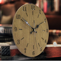 2017 New Art Wooden Wall Clock Modern Fashion Design Home Decoration Best Gift For Children In