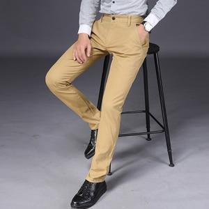 Image 2 - VOMINT 2020 חדש Mens מכנסי קזואל גמישות מכנסיים רגיל ישר חכם עסקים צפצף שחור כחול חאקי גדול גודל 42 44 46