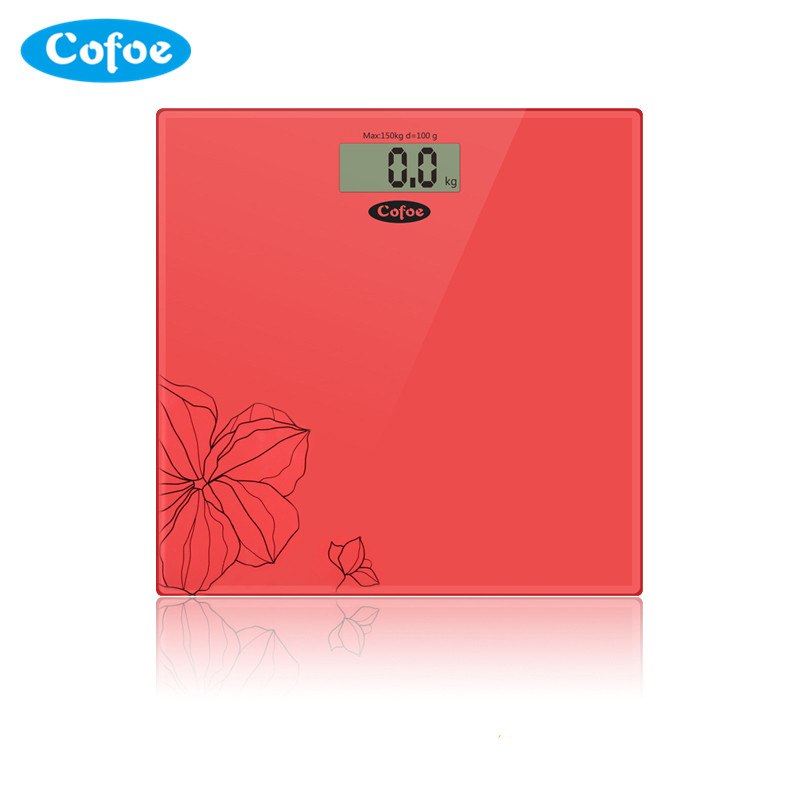 Cofoe Precision Bath Bathroom Weight Scale Fitness Scales 330lb Digital LCD electric Glass Electronic Weighing