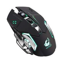 цена на Ergonomically design Free Wolf X8 Wireless Gaming Mouse Silent 2.4GHz 2400DPI 6 Keys Wireless Optical Mouse USB Receiver Black