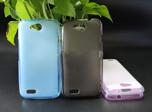 Super Flexible Slim TPU Cover Case with Crystal for ZTE Blade Q Lux 4G Mobile Phone