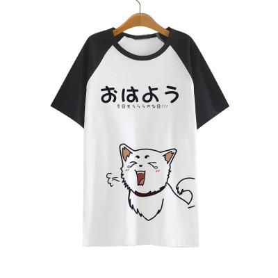 Gintama Silver Soul T shirt Anime Sadaharu Elizabeth Acting