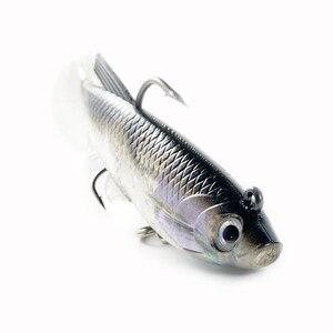 Image 3 - SUNMILE 5pc wędkarstwo miękka przynęta główka ołowiowa Jig 85mm/12.5g sztuczne przynęty Swimbaits Wobbler Leurre Souple przynęta na szczupak Bass okoń