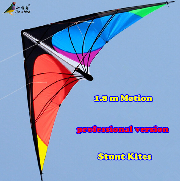 Free Shipping NEW LISTING 1 8m Power Professional Dual Line Stunt Kite With Handle And Line