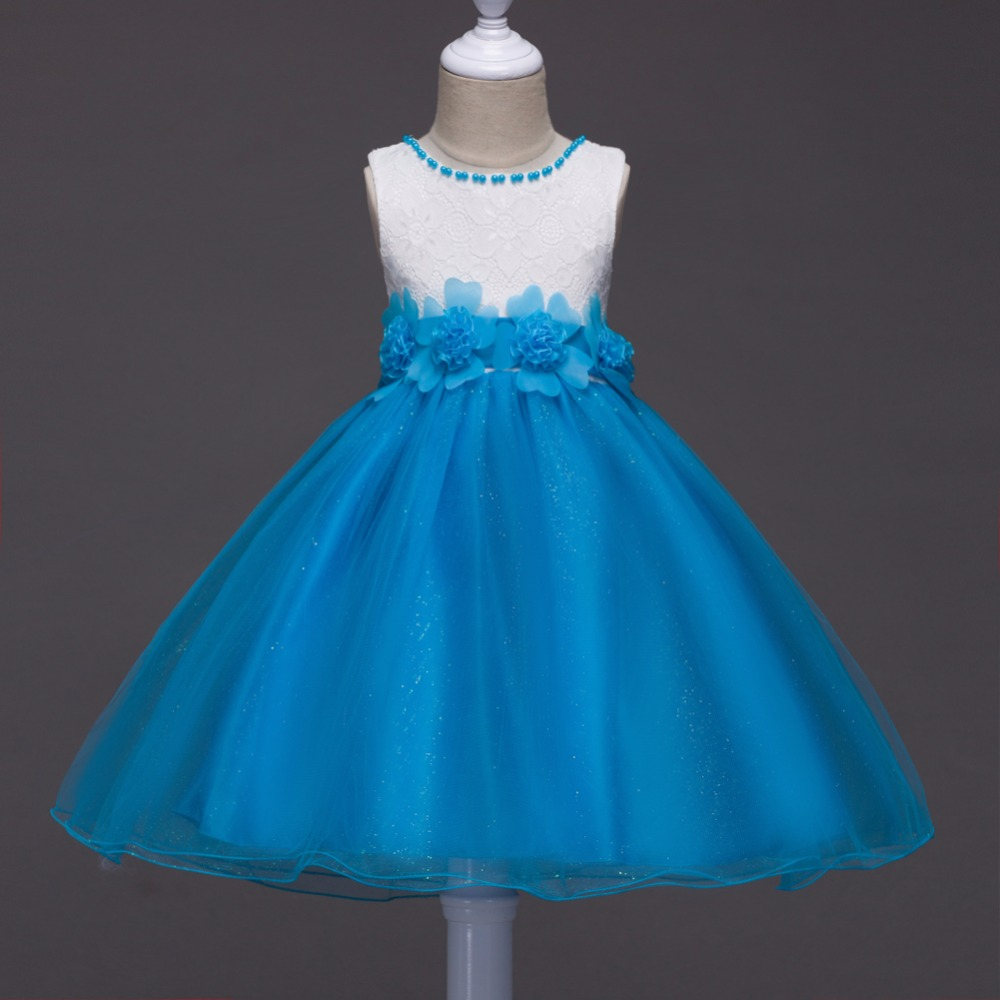 New model girl dress fashion clothes Flower girl dress kids wedding ...