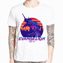 Neon Genesis Evangelion T shirt atak anioł EVA 01 02 Anime koszulka z krótkim rękawem O-Neck Tshirt dla mężczyzn HCP4486 1