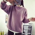 Women autunm winter loose sweater and pullovers warm thick Long Sleeve Pullovers fashion knit sweater oversize tops