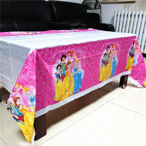 Image 2 - 108cm*180cm Kids Birthday Party Supplies Decoration Sofia Princess Minnie Mickey Moana TableCloth Baby gift