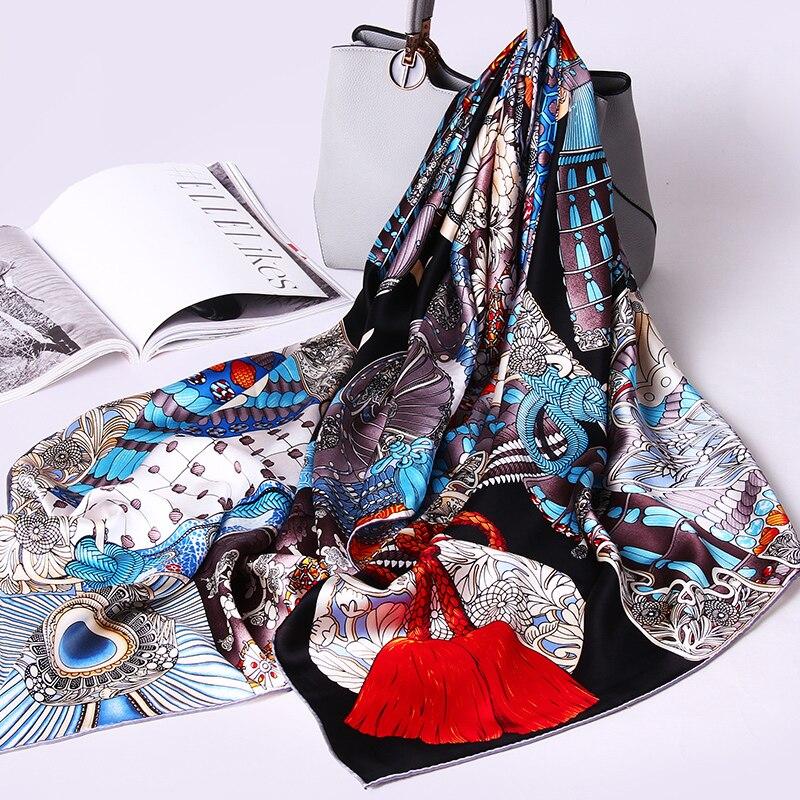 100% foulards en soie Pure Echarpe Femmes écharpe d'hiver chinois Pure soie foulard carré, enveloppes et châles Hangzhou vrais foulards en soie