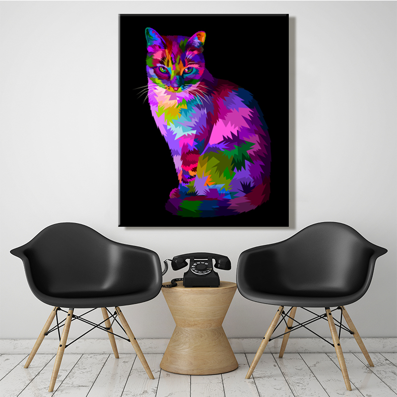 paint by number art painting by numbers Be riotous with colour cat Dog Horse Owl Abstract painting Artwork manual characteristicpaint by number art painting by numbers Be riotous with colour cat Dog Horse Owl Abstract painting Artwork manual characteristic