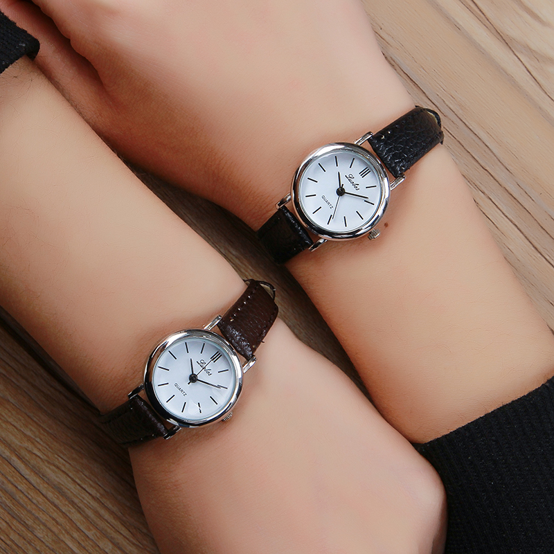 Luobos Small Dial Quartz Leather Women font b Watch b font New Fashion Hot Sale font
