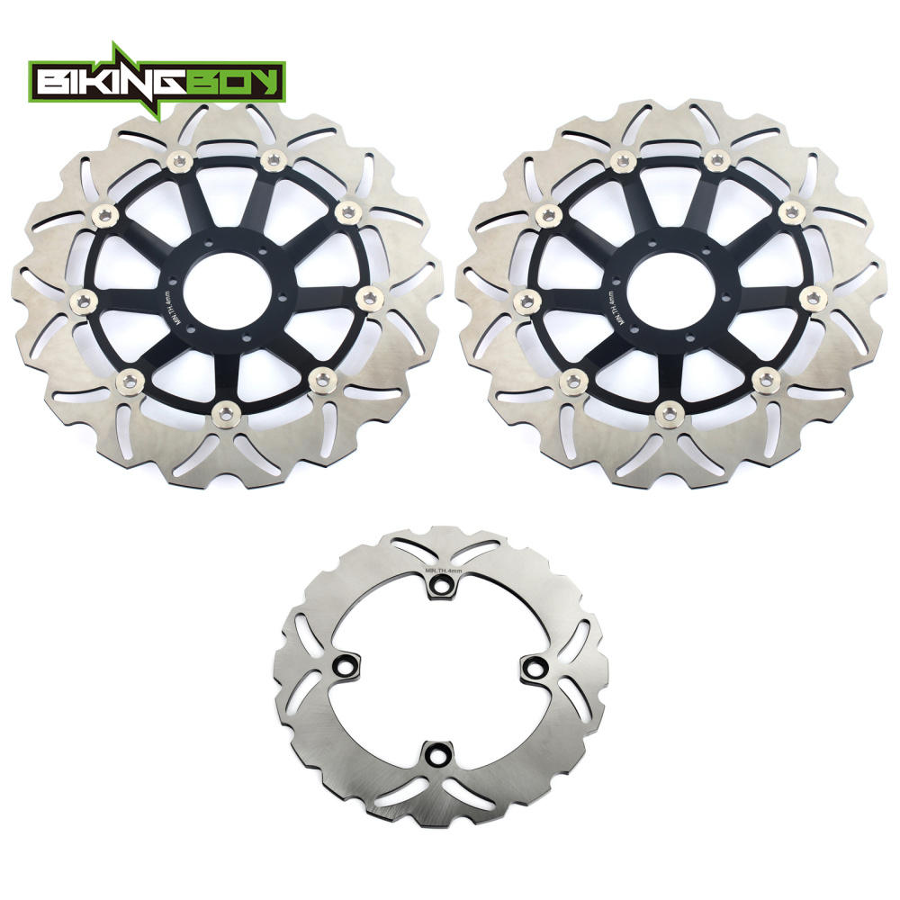 BIKINGBOY Floating Full Set Front Rear Brake Discs Disks Rotors For HONDA CB600F CB 600 F Hornet FW FX 1998 1999 296mm & 220mm