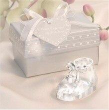 Dhl-freies verschiffen 50 teile/los baby-dusche geschenke Kristall Niedliche Prinzessin Baby Schuhe