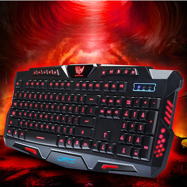 Wired Triple Color Backlit Gaming Keyboard