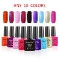 Belle Fille 10 Pcs Fingernail UV Gel Nail Polish Candy Gel Manicure French Varnish UV LED Soak Off Pink Light Color Candy Coat