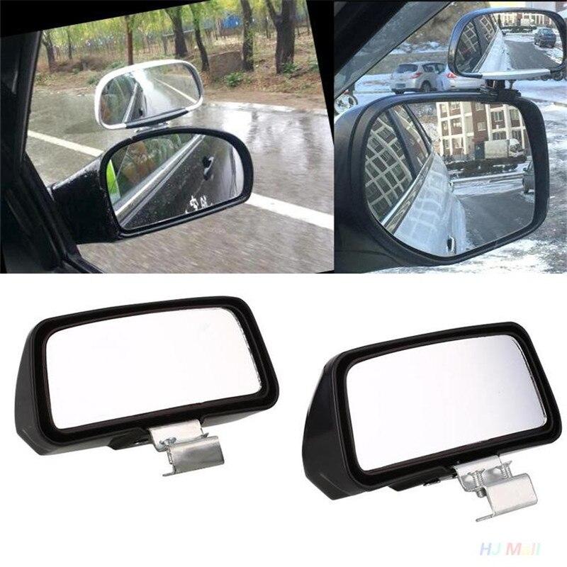 Vehemo 2Pcs Universal Car Truck Blind Spot Mirror Wide Angle Rear Side View Adjustable Eliminates Blind Spots