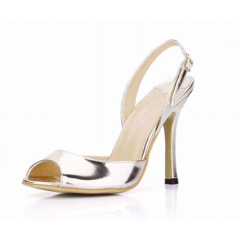 ФОТО 10 cm women new fashion open toe high heels sandals buckle summer sexy woman peep toe pumps dress shoes sandalias high quality