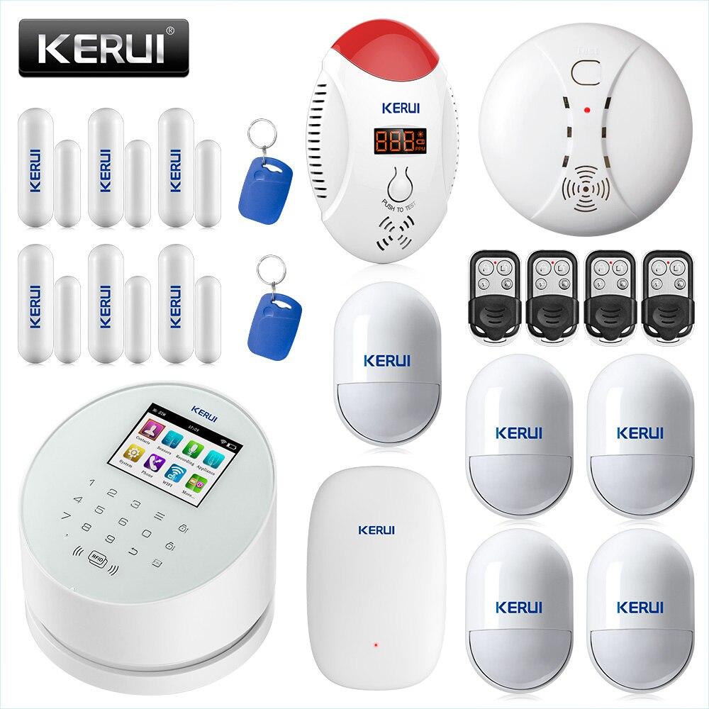 KERUI W2 Inteligente WIFI GSM PSTN Sistema de Alarme de Segurança SMS RFID Disalarm Sensor De Monóxido De Carbono Detector de Alarme Do Assaltante Sistema