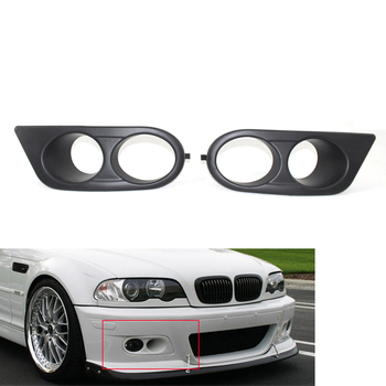 Left Right Car Fog Light Lamp Cover Grill Grille for BMW E46 M3 01-06 Black Convertible Coupe 2-Door 51112695255, 51112695256 image