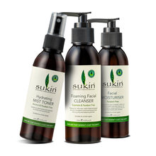 Australia Sukin skincare set Facial Moisturiser+Foaming Facial Cleanser+Hydrating Mist Toner fast absorbing hydrates soothe skin