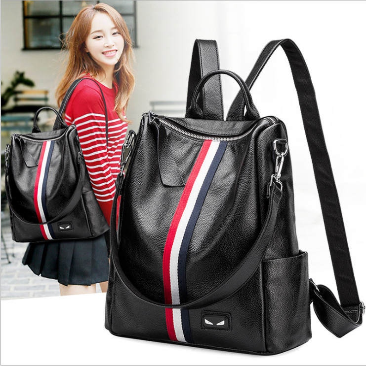 NEW Genuine leather Women Backpack  Youth Leather Backpacks for Teenage Girls Female School Shoulder Bag Bagpack mochila new 2018 women backpack leather rivet bag ladies shoulder bags girls school book bag black backpacks mochila bagpack 3 pcs sets