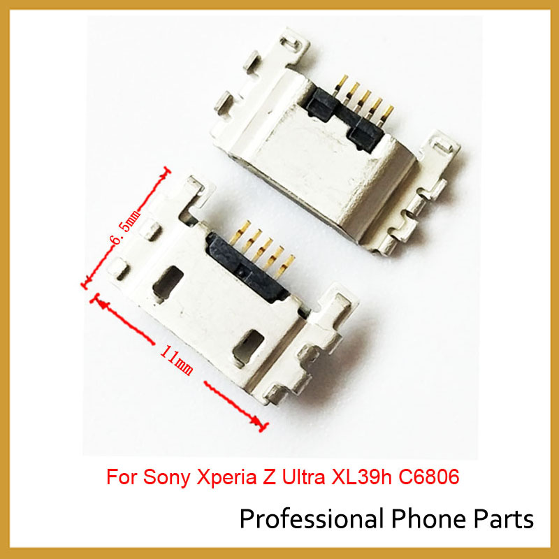 2Pcs/lot, Micro USB Charger Charging Connector Port Power Jack For Sony Xperia Z L36h Z1 Z2 Z3 Mini Compact S Lt26i Replacement