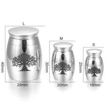 Silver Tree of Life Memorial Urn
