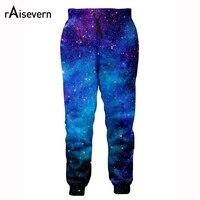 Raisevern High Quality 3D Fashion Pants Men Women Galaxy Space Print Brand Joggers Pants Slim Fit