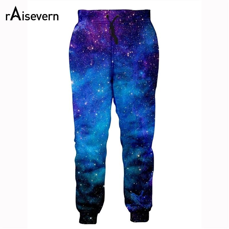 Raisevern High Quality 3D Fashion Pants Men Women Galaxy Space Print Brand Joggers Pants Slim Fit Full Length Trousers Dropship