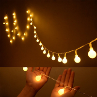String Lights With 50 LED Globe Bulbs For Indoor Outdoor Commercial Outdoor Hanging Umbrella Garden Patio