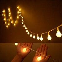 Jeu de Lumières avec 50 LED Globe Ampoules pour Intérieur/Extérieur Commercial En Plein Air Suspendus Parapluie Jardin Patio Lampe Lumières Pelouse partie