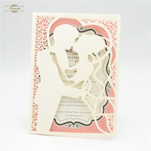 Buy philippine wedding invitations and get free shipping on laser cut bride and groom wedding invitation card philippineschina stopboris Choice Image